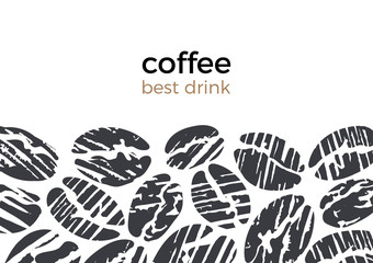 Vector abstract template of coffee bean