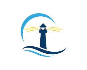 Light House Logo Template icon vector