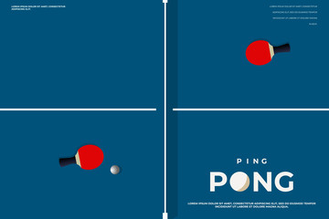 Tennis table. Ping-pong Poster Template. Table and rackets for ping-pong. Vector illustration EPS10