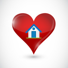 House and heart icon