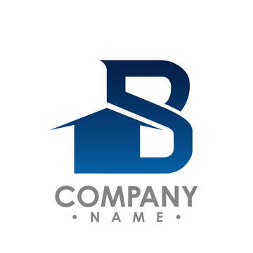 B initial letter realty logo design. Lettering Realty logo design vector concept and idea.