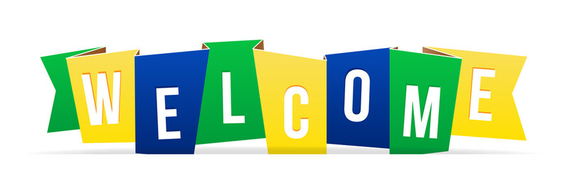 Creative illustration of welcome word