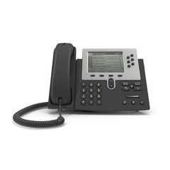 IP phone on a white. 3D illustration