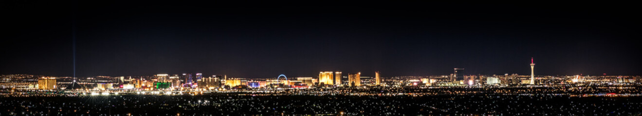 Poster Las Vegas Vegas In Color, cityscape at night with city lights
