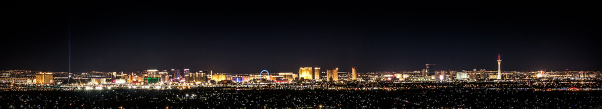 Vegas In Color, cityscape at night with city lights