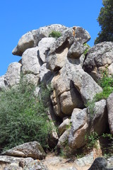 Filitosa prehistoric site with menhirs and dolmens in Corsica, France