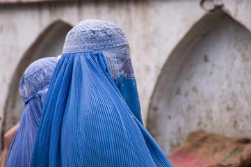 Woman in burqa in Kabul, Afghanistan