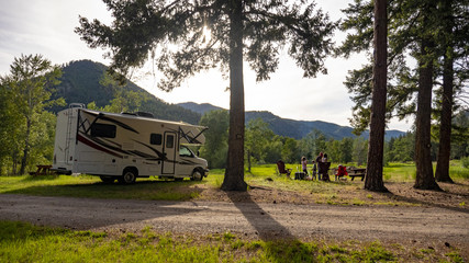 Family Camping trip with RV