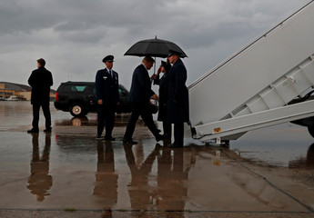 U.S. President Trump departs Joint Base Andrews in Maryland