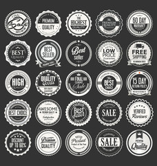 Retro vintage badges and labels vector collection