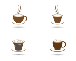 Coffee cup symbol illustration