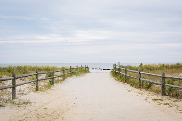 Path to the beach in Ocean City, New Jersey.