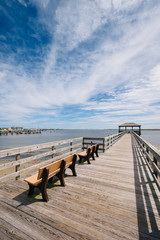 Pier in Somers Point, New Jersey.