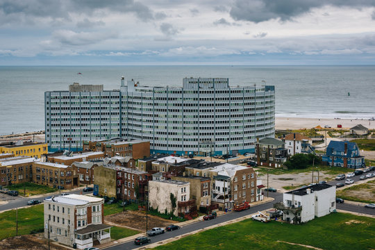 View from the Absecon Lighthouse in Atlantic City, New Jersey.