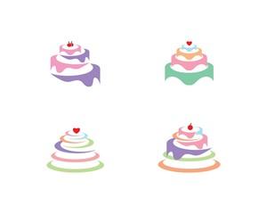 Cake logo vector ilustration