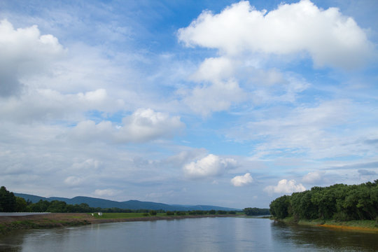 Landscape Photo Of The Susquehanna River In Wilkes-Barre, Luzerne County Pennsylvania