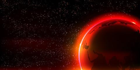 地球 夜空 宇宙 背景