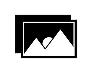 black picture black silhouette image vector icon logo symbol