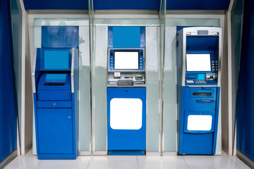 ATM machine. The station automatic machines