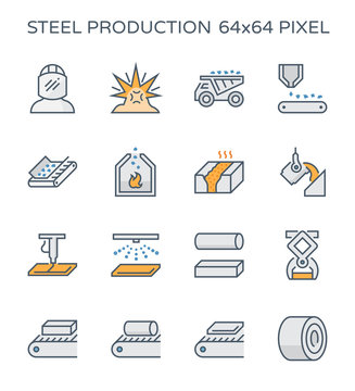 steel production icon
