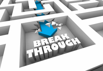 Breakthrough Innovation Solve Problem Solution Maze 3d Illustration