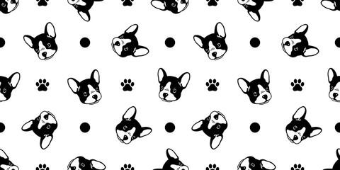 Black And White Polka Dot Dog Bowl