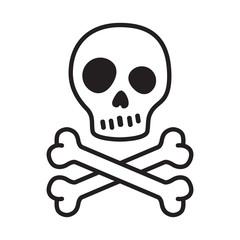 pirate skull vector crossbones icon logo Halloween kitten cartoon illustration symbol