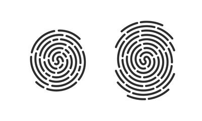 Fingerprint vector finger print logo line icons