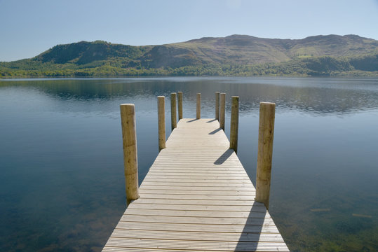 Jetty on Derwentwater near Keswick, Lake District
