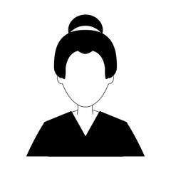 Geisha profile avatar vector illustration graphic design