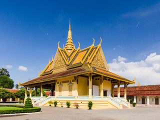 Royal Palace and King's residence main building in Phnom Penh, Cambodia