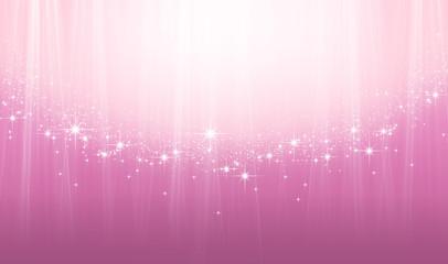 煌めく星とピンクの抽象的背景