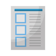 document paper sheet file office vector illustration