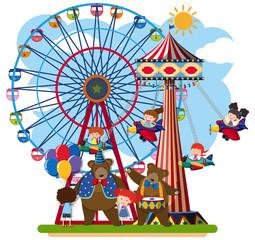 Scene of a fun park