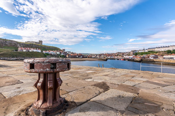 Tate Hill with St Mary's Church, Whitby, North Yorkshire, England