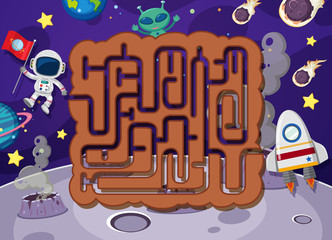 Maze puzzle in space