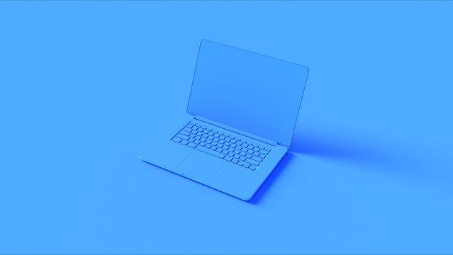 Blue Laptop 3d illustration