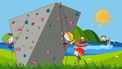 Children doing extreme sports
