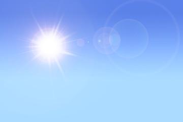 Sonnenschein bei blauem Himmel