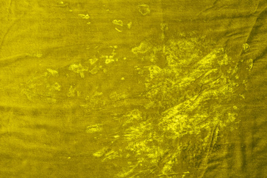 top view of yellow velvet textile as background