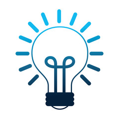 light bulb isolated icon
