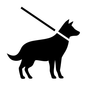 Keep dogs on leash vector sign
