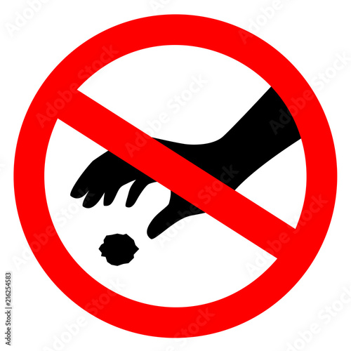 No Littering Vector Sign Stock Image And Royalty Free Vector Files