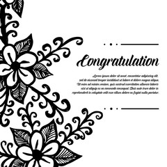 Greeting card congratulation with flower design vector illustration