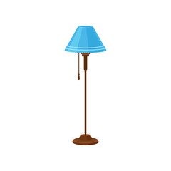 Floor lamp, interior design element vector Illustration on a white background