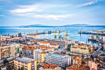 Burgas, city, port nad bay