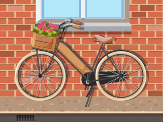 Scene with a bicycle