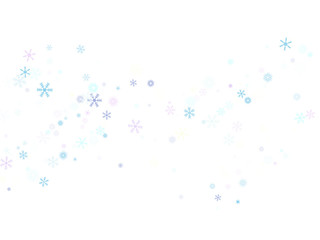 Falling down snow confetti, snowflake vector border. Festive winter, Christmas, New Year sale background. Cold weather, winter storm, scatter texture. Hipster snowfall falling snowflakes cool confetti