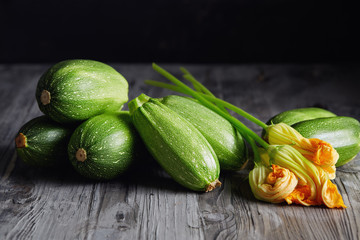 Zucchini and Zucchini Blossoms