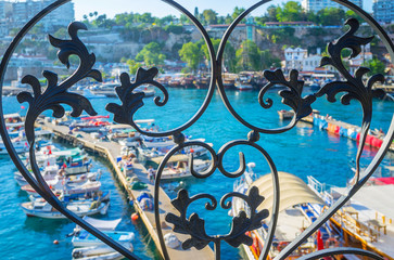 Wrought iron fence, Antalya, Turkey